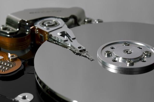 detail pevného disku