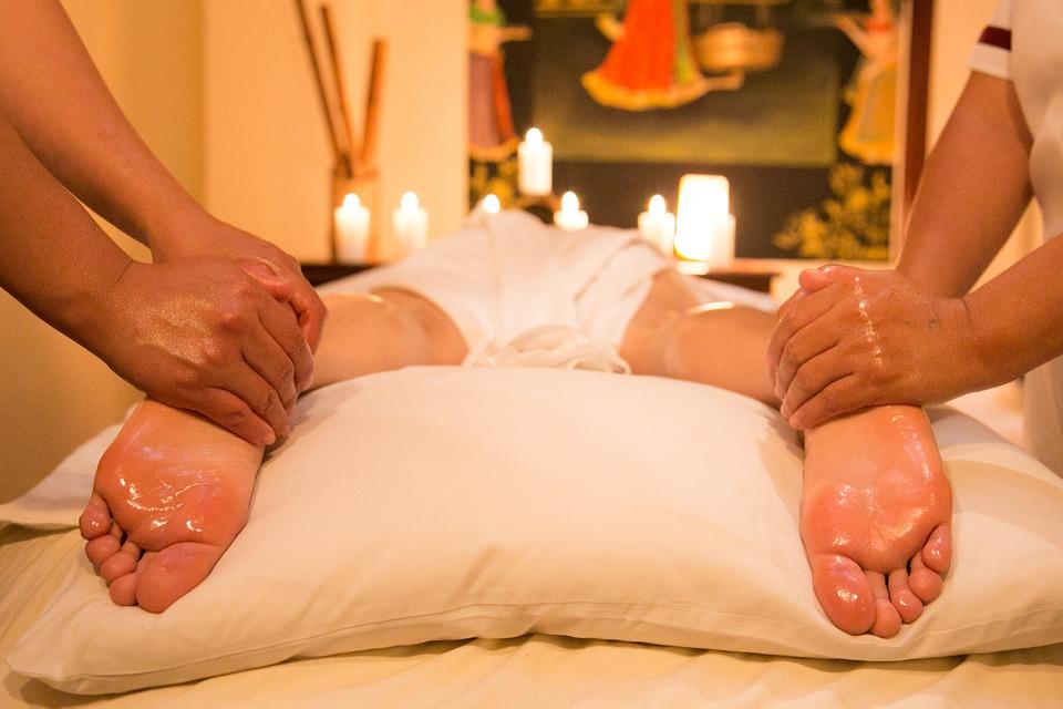 masáž, nohy