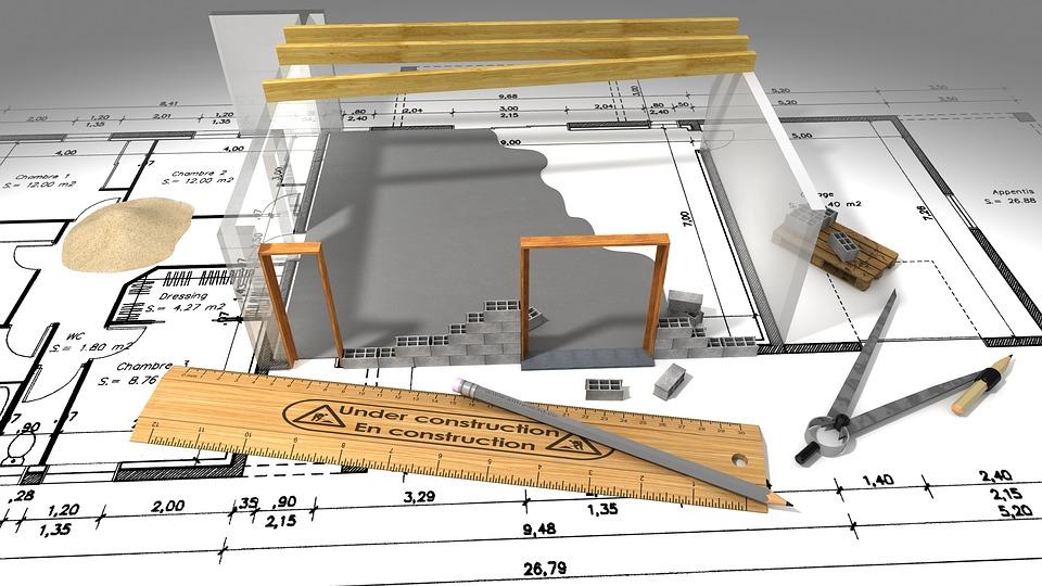 plán, projekt domu