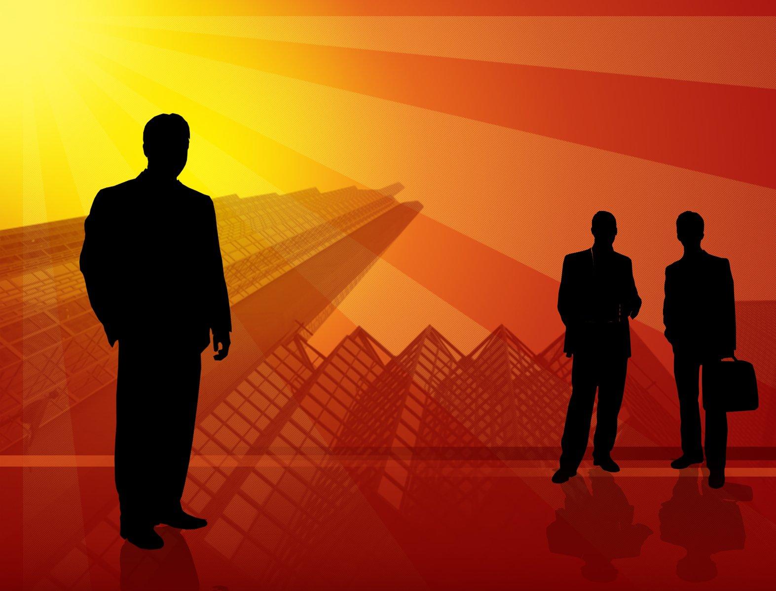 podnikatelia, siluety